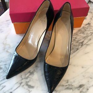 Kate Spade Black leather pumps